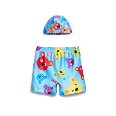 WHY AND 1/2 普普熊泳褲-附泳帽 5Y~8Y