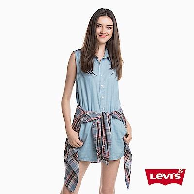 Levis 女款 牛仔短褲 連身短褲