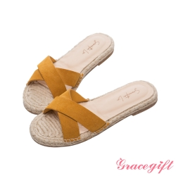 Gracegift X Samantha-聯名交叉寬帶涼拖鞋