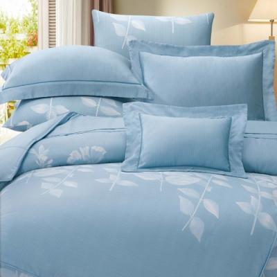 岱思夢   雙人  60支八件式天絲床罩組  貝妮卡-藍