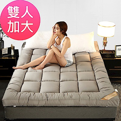 加厚10CM特級棉柔羽絲絨床墊(雙人加大/七色可選)