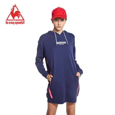 法國公雞牌長版帽T LWK2234139-女-藏青