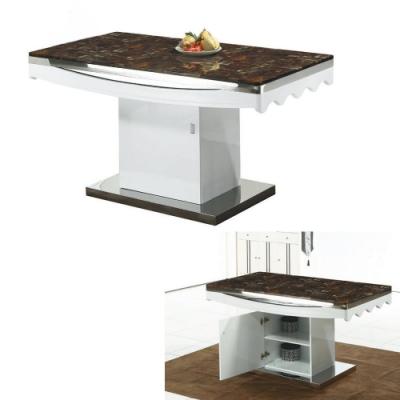 MUNA 奧莉亞4.6尺石面餐桌 140X80X85cm