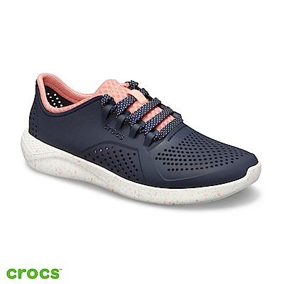 Crocs 卡駱馳 (女鞋) LiteRide潑墨繫帶鞋 206036-462