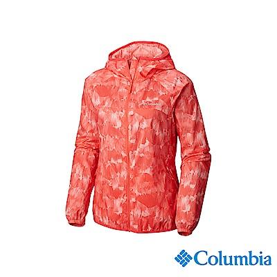 Columbia 哥倫比亞 女款-防潑水彈性外套-橘紅 UKR10180AH