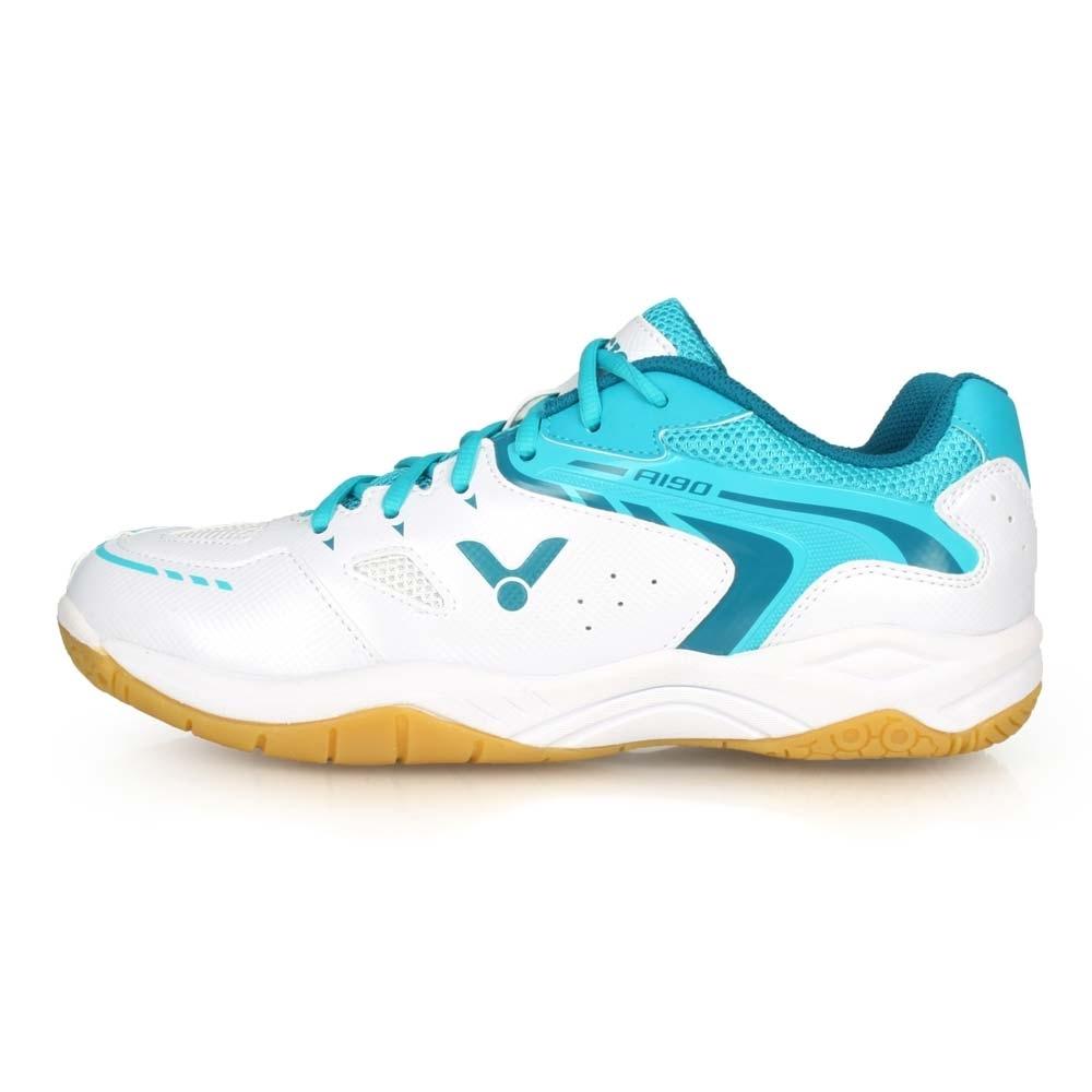 VICTOR 男 專業羽球鞋-4E A190系列 白湖水綠