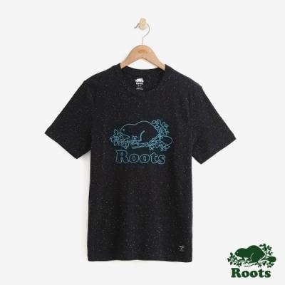 男裝Roots-結粒沙短袖T恤-黑
