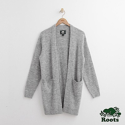 Roots 女裝- 若列特厚針織開襟衫- 灰