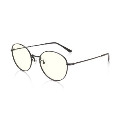 JINS 金屬圓框濾藍光眼鏡(AFPC18A101)霧黑
