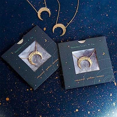 Wanderlust Co新月星星雙層項鍊 - 金色