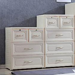 【日居良品】歐式古典提花手把三層抽屜收納櫃-60面寬DIY