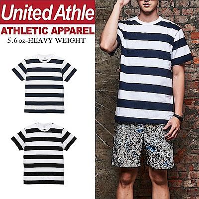United Athle日本職人 棉柔手感寬條紋短袖T恤 UA