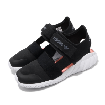 adidas 涼拖鞋 Doom Sandal C 童鞋 愛迪達 三葉草 魔鬼氈 夏日 涼爽 中童 黑 白 FV7600