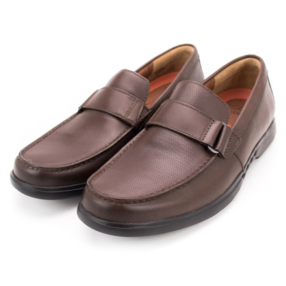 Clarks Uneasley Free 男正裝皮鞋 咖啡