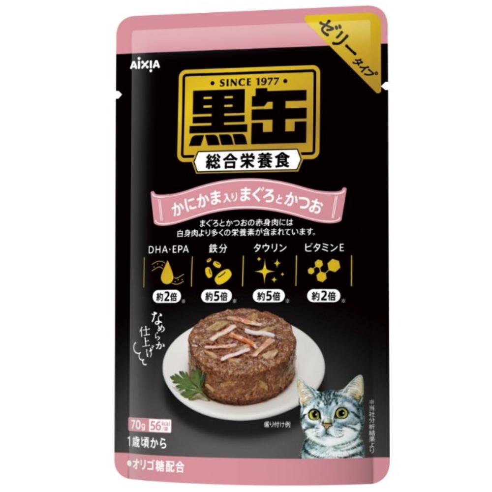 日本AIXIA愛喜雅《黑罐主食軟包》70g 12包組