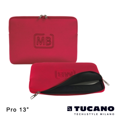 TUCANO ELEMENTS MB Pro Retina 13吋專用防震內袋-紅