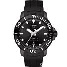 TISSOT Seastar 海星300米潛水機械錶(T1204073705100)43