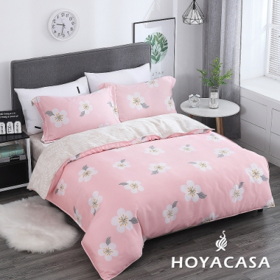 HOYACASA 梅晴 雙人四件式抗菌天絲兩用被床包組