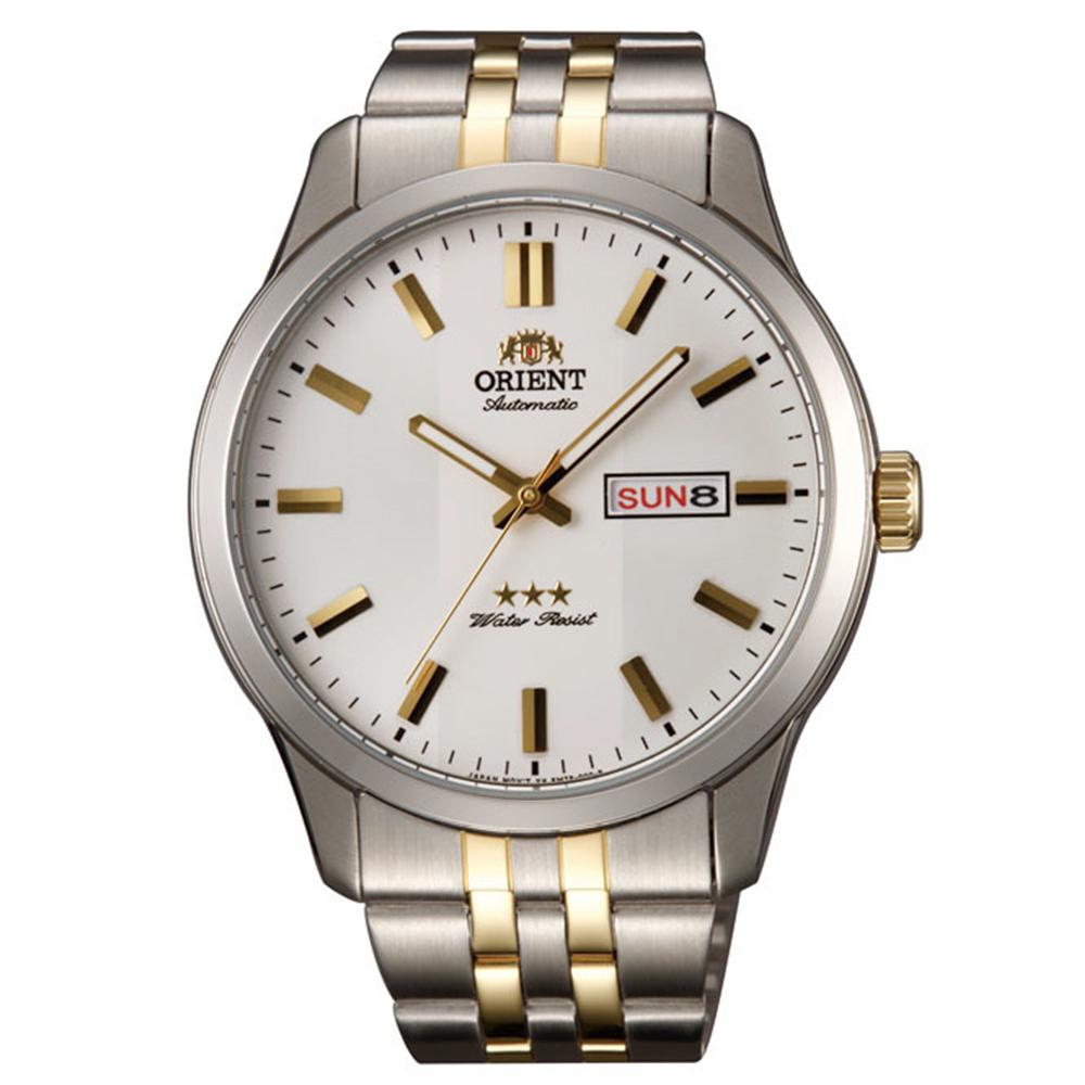 ORIENT 老牌經典金彩時刻石英腕錶(SAB0B008WB)-白面x42mm