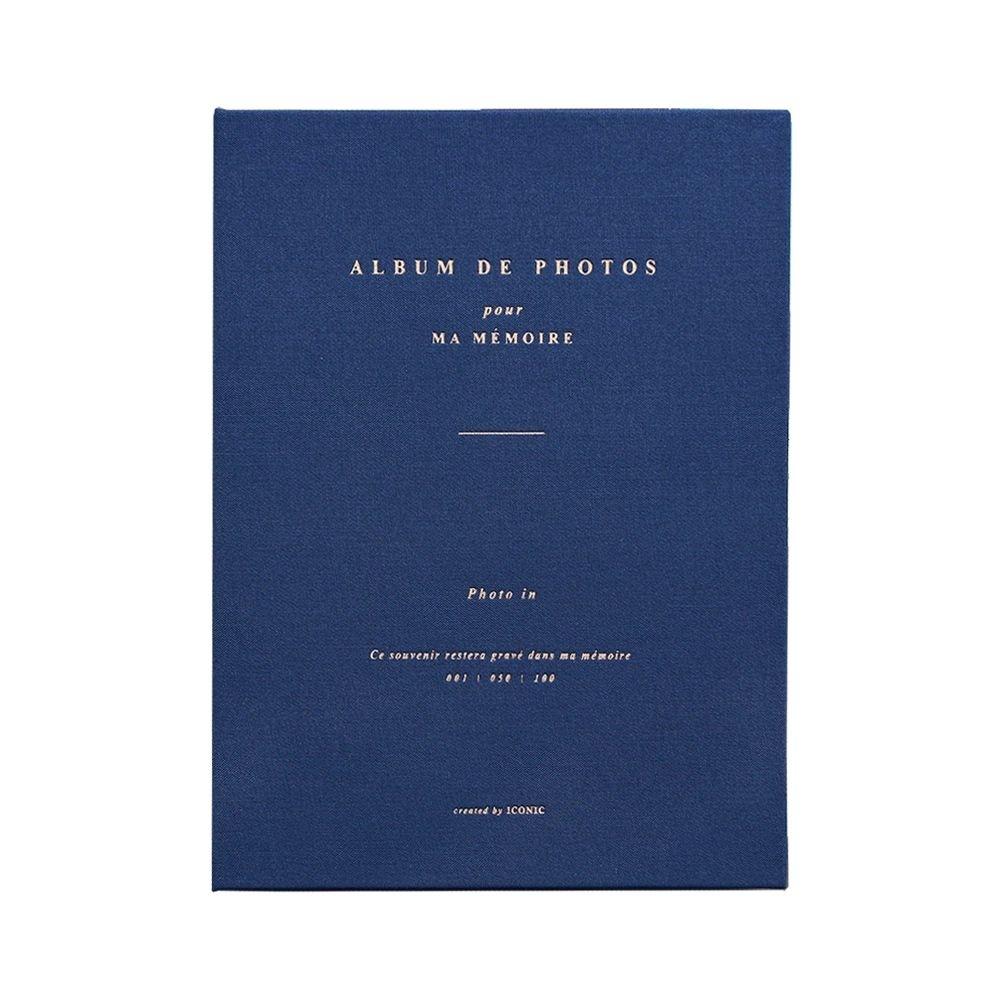 ICONIC 典藏時光4X6相本(100張)-海軍藍