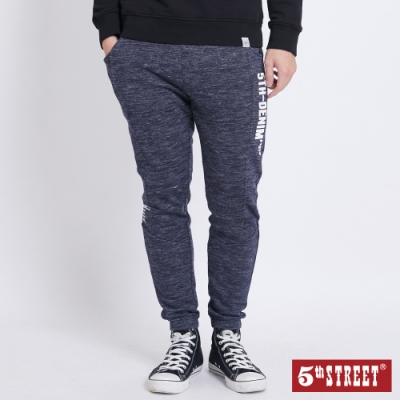 5th STREET 變體抽繩縮口休閒褲-男-黑藍