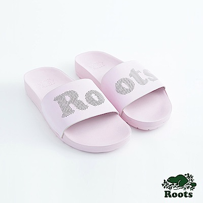 Roots女鞋- 經典皮革輕便鞋-粉