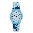 Swatch Core Refresh 系列手錶 CAMOUBLUE 迷彩藍 - 34mm