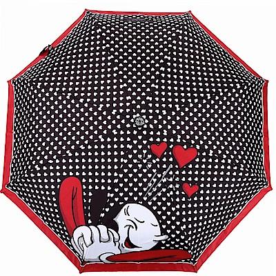 BOUTIQUE MOSCHINO Olivia 奧莉薇滿版愛心自動摺疊傘