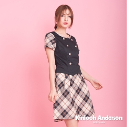 【Kinloch Anderson金安德森女裝】圓領雙排扣假兩件洋裝