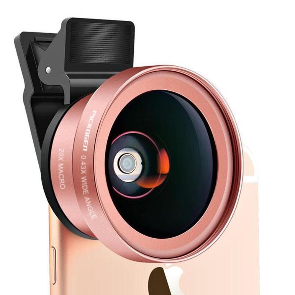 升級版0.43X廣角+20X微距不畸變特效自拍鏡頭廣角/兩色可選 product image 1