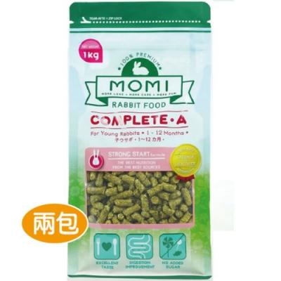 MOMI 摩米 - 摩米營養全A幼兔飼料 1公斤裝-兩包組(幼兔飼料)