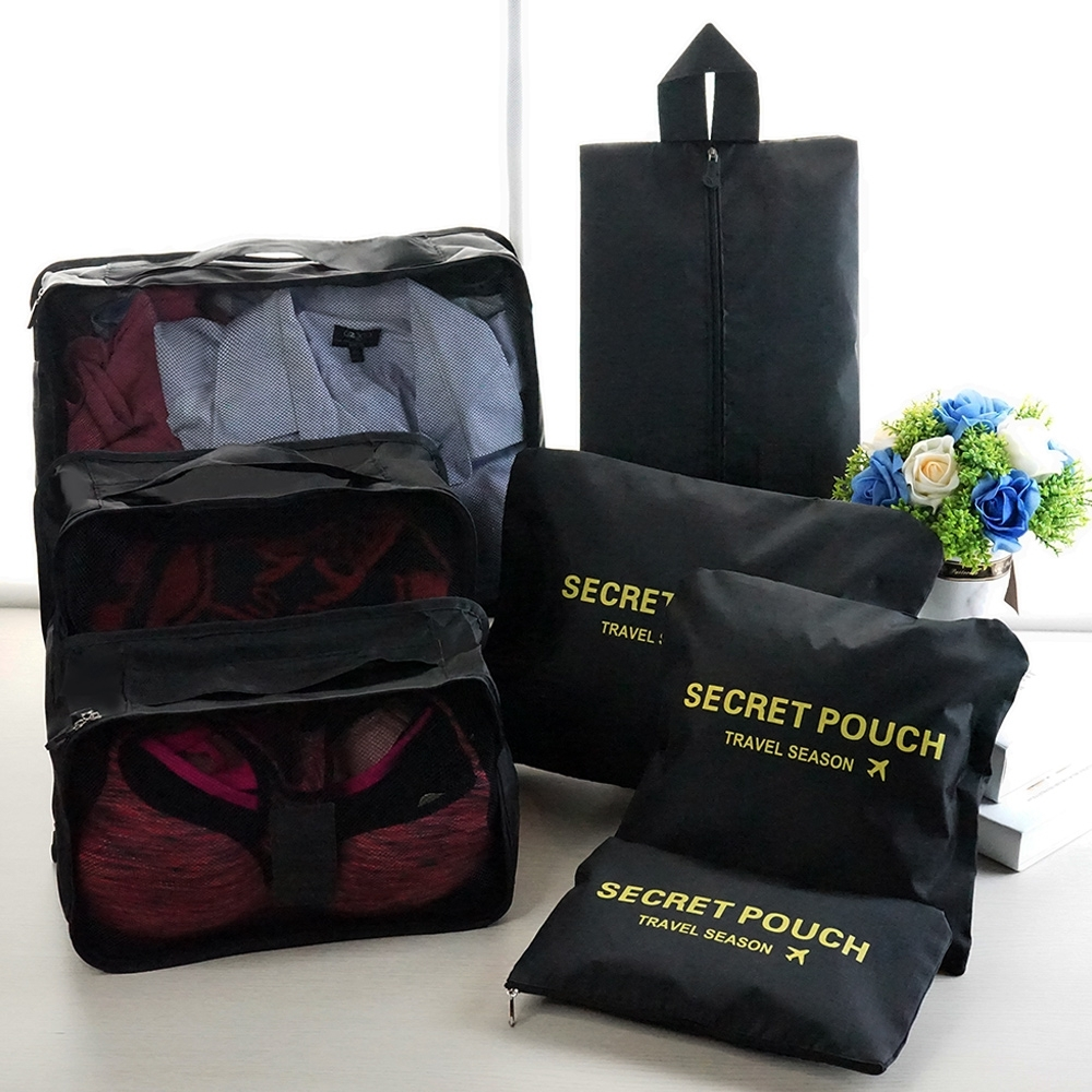 [時時樂限定] JIDA 輕生活多彩升級版行李箱/衣物收納7件套組(8款任選)