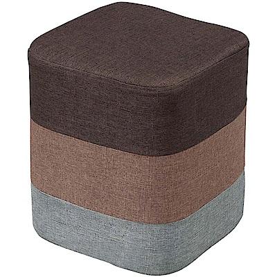 文創集 巴哈現代風亞麻布方椅凳(三色可選)-29x29x34cm-免組
