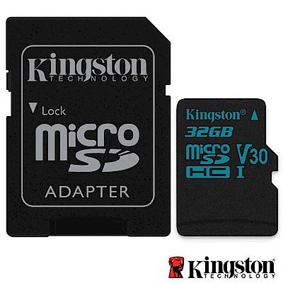 Kingston 金士頓 32G U3 microSDHC V30 記憶卡 SDCG2