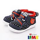 IFME健康機能鞋 點點護踝超輕學步款 EI70611深藍(寶寶段)