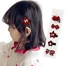 【3組入】兒童髮夾 寶寶髮夾 兒童卡通蝴蝶結髮飾5件組