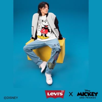 Levis X Disney 合作系列 男款雙面穿絨毛飛行外套 / 精工米奇刺繡