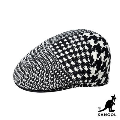 KANGOL-ABSTRACT 504鴨舌帽-黑白色