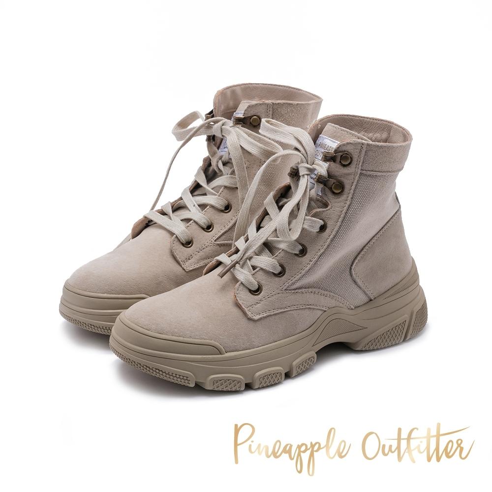 Pineapple Outfitter 仿舊風格綁帶中筒馬汀馬丁短靴-卡其