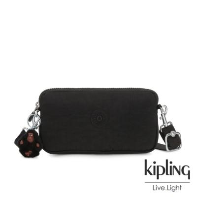 Kipling 質感黑側背多功能配件包-EMILIA