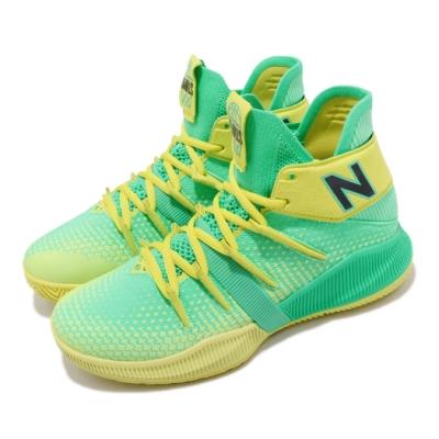 New Balance 籃球鞋 OMN1S Wide 寬楦 女鞋 紐巴倫 避震 包覆 運動 Kawhi 大童 綠 黃 GBOMN1NSW