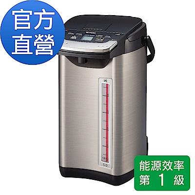 (日本製造)【頂級】 TIGER虎牌 VE節能省電真空熱水瓶5.0L(PIE-A50R)