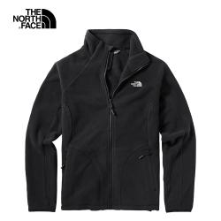 The North Face北面女款黑色保暖舒適戶外抓絨衣|364KKY4