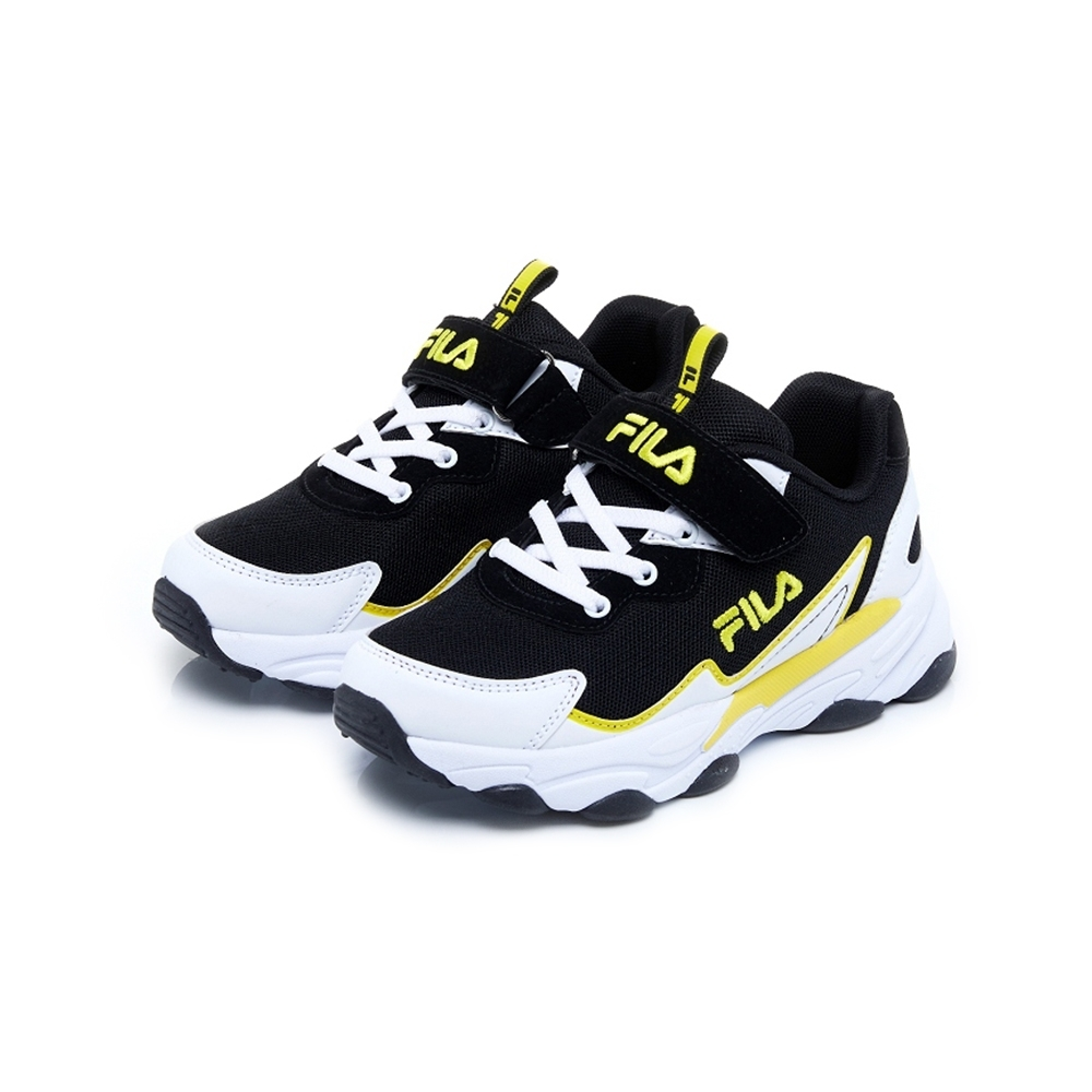 FILA KIDS 大童MD復古運動鞋-黑 3-J805U-109