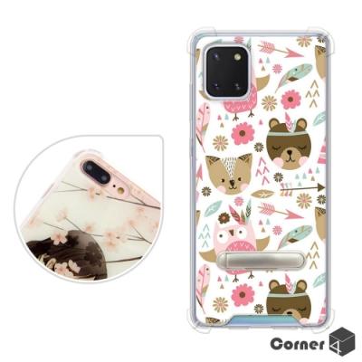 Corner4 Samsung Galaxy Note 10 Lite 四角防摔立架手機殼-森林物語