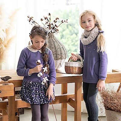 PIPPY 立體小花絨毛上衣 紫