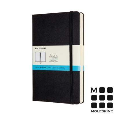 MOLESKINE 經典硬殼筆記本(L型)加量型-點線黑