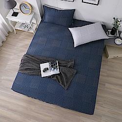 DESMOND岱思夢 單人100%天絲床包枕套二件組 一彎心跡