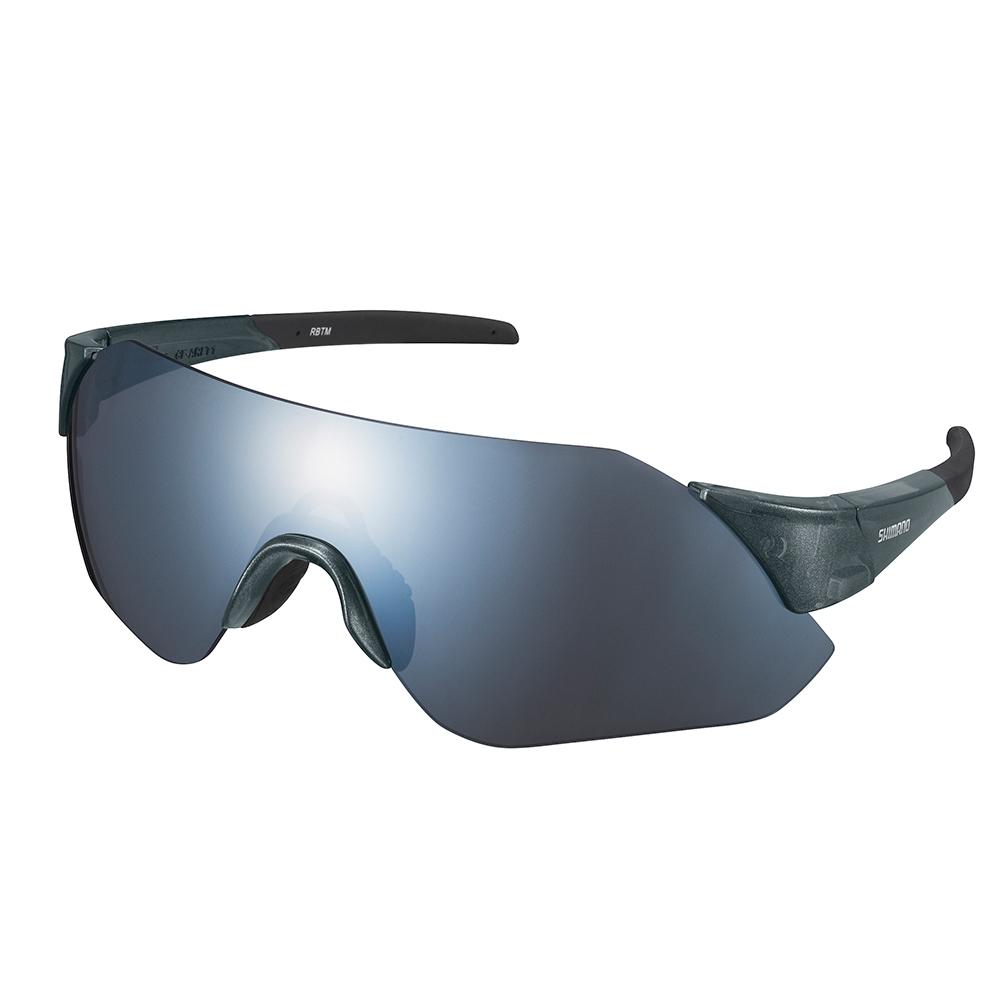 【SHIMANO】AEROLITE 太陽眼鏡 透明銀色鏡架 (銀色煙燻鏡面鏡片 附一備片)