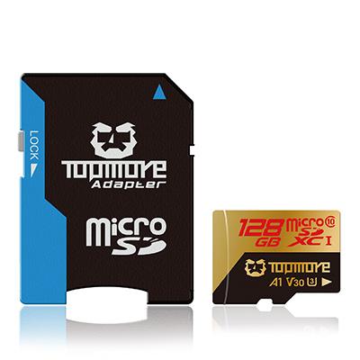 TOPMORE 128G MicroSDXC UHS-1 U3  A1 V30記憶卡